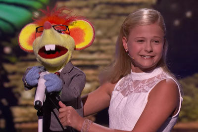 Ventriloquist Darci Lynne Steals Whole Show On AGT While She Sings With Closed Mouth