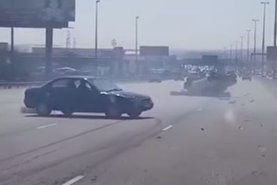 Guy Tries To Flee The Scene Of An Accident He Caused, Then Other Drivers Deliver Justice