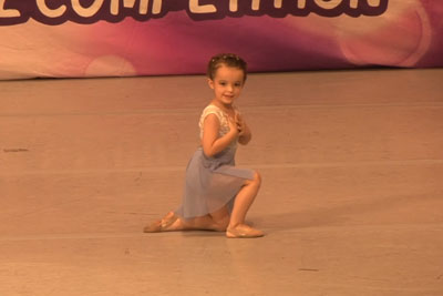Tiny Little Girl Gets Ready To Dance. When She Starts To Perform, Everyone's Heart Melted