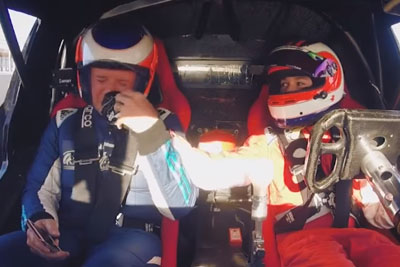 Rubens Barrichello Becomes Very Emotional While Sitting In The Sport Car Driven By His Son