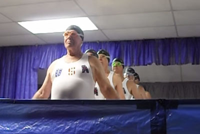 6 Elderly Men Line Up, Give A 'Synchronized Swim' Routine Like Never Seen Before