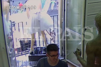 VIDEO: Security Camera Captured A Shocking Moment When Terrorist Hits Walkers In Barcelona