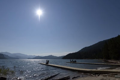 Solar Eclipse Captured From The Shores Of Palisades Reservoir In Idaho Is Going Viral
