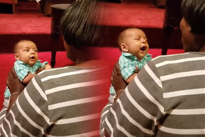 Mommy Starts Singing, Baby's Comeback Has The Entire Church In Awe