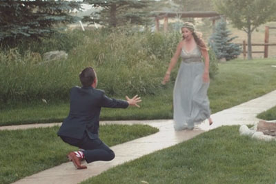 Best Man And Maid Try An Acrobatic Entrance To Wedding, Things Do Not Go As Planned