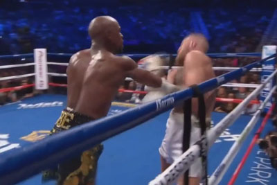 VIDEO: Mayweather Wins Fight Against McGregor With A TKO In 10th Round
