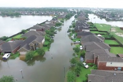 Drone Footage Reveals Devastation In Houston After Hurricane Harvey