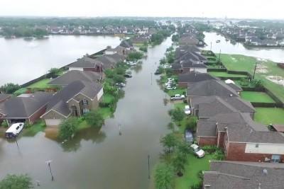 Drone Footage Reveals Devastation In Houston After Hurricane Harvey