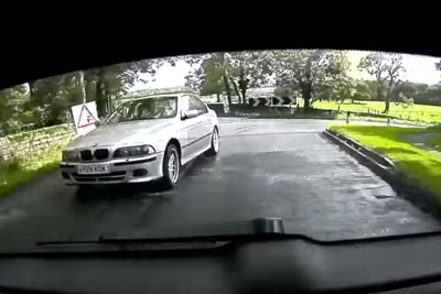Aggressive BMW Driver Was Tailgaiting Him, Then He Recives Instant Karma