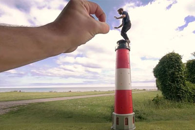 Awesome Red Bull Video Shows Crazy Tricks Together With Optical Illusions