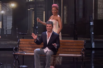 Mind Reader Colin Cloud Convinces Mel B To Stab Simon Cowell On America's Got Talent