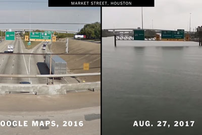 Shocking Footage Shows How Houston Looks Like Before And After Harvey