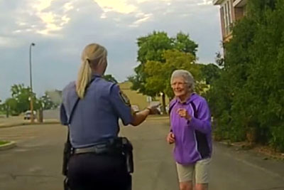 92-Year-Old Woman Confused When Cop Pulls Over In Front Of Her, Then Cop Grabs Ahold Of Her