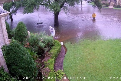 Time Lapse Shows Houston Harvey Flood In Meyerland Neighborhood