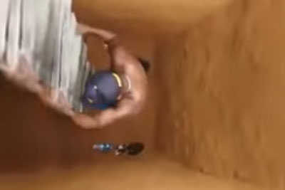 Good Guy Tries To Rescue A Kitten From A Deep Hole, Then Something Hilarious Happens