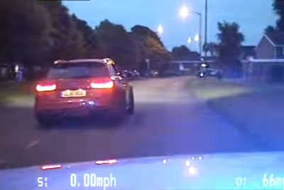 Audi RS6 Driver With 2 Flat Tires Still Gets Away From Police Chasing Him
