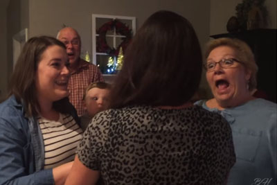 Couple Hides Pregnancy For Months, Then Show Up At Their Family's Door With Baby