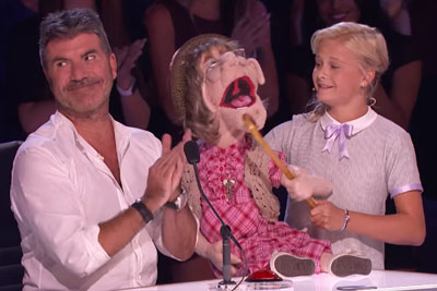 Young Ventriloquist Darci Lynne Sings For Simon Cowell With Her Mouth Closed