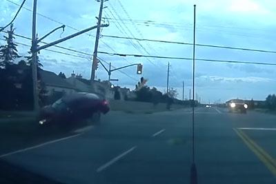 Rear Dashcam Captures Shocking Crash In Carleton Place, Ontario