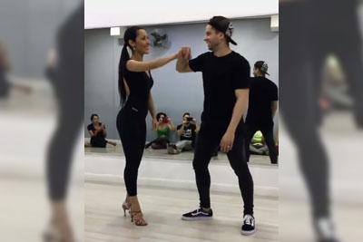 Dancer Brings Her On The Dance Floor. Just Wait Until He Starts Spinning Her!