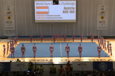 31 Gymnasts Stand Around A Mat, Seconds Later The Audience Gasps