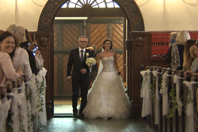 Bride Steps In The Church Together With Her Father. Just Wait To See Their Surprise!