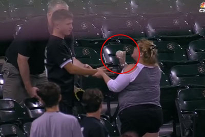 Greedy Woman Snatches Foul Ball Out Of Teen's Hands, Then He Quickly Gets The Last Laugh