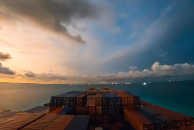 He Was On A Cargo Ship For 30 Days. His Time-Lapse Journey Is Absolutely Stunning!