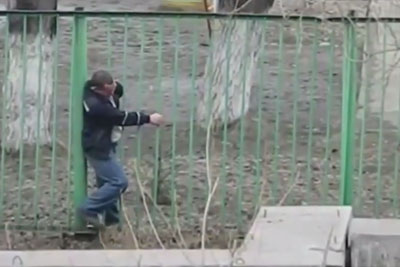 Drunk Man Makes Everyone Laugh. He Enters The Area Through Fence, Then This Happens...