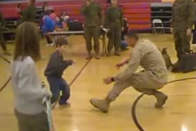Marine Dad Returns Home, His Son With Cerebral Palsy Surprises Him In Best Way Possible