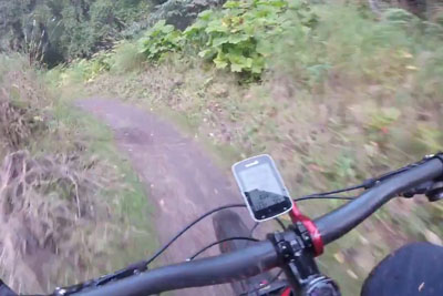 A Shocking Moment For A Downhill Rider, This Happened In The Woods