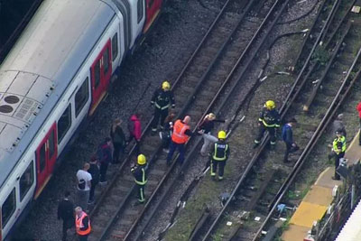 VIDEO: 30 Injured In Explosion On London Subway Train At Parsons Green Underground Station