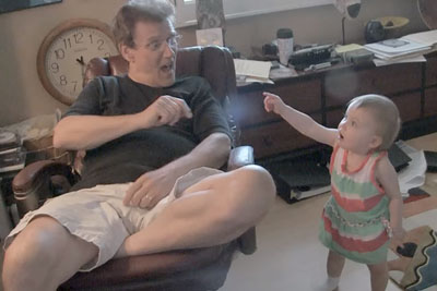 Grandpa And Baby Steal Whole Show With Their Hilarious Conversation