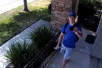 Stranger Steps Next To The Door. What Security Camera Captures Is Going Viral!