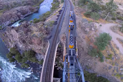 Crazy Drone Pilot Chases A Train, Footage Will Leave You Speechless