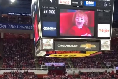 Fans At A Hockey Game Go Crazy For A Little Kid, Boo Everyone Else