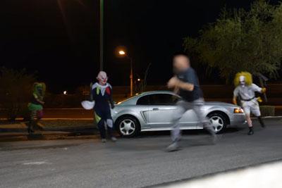 Killer Clowns In Las Vegas Make Victims Run For Their Life