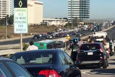 Shots Fired on Interstate 80 Near Emeryville, CA During Standoff With Suspected Murderer