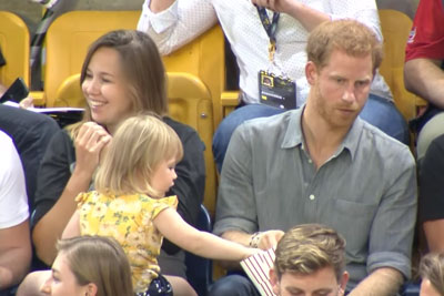 Sneaky Toddler Steals Prince Harry's Popcorn, His Reaction Is Priceless