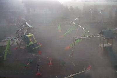 Security Camera Captures Destructive Windstorm In Romania, Footage Will Shock You