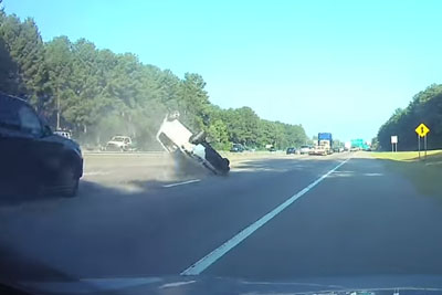 Driver With Stolen Plates Causes Horrible Rollover Crash On The Highway