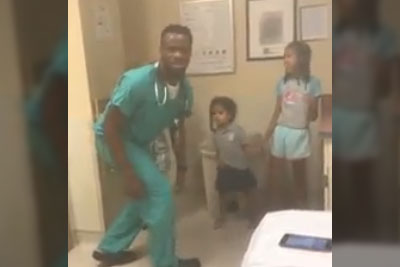 Mom Sees Her Kids Acting Strangely. Notices Doctor's Behavior, Then Starts Recording!