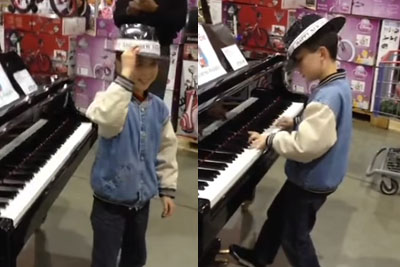While His Parents Shop At Costco, Little Boy Amazes Shoppers With Impromptu Performance