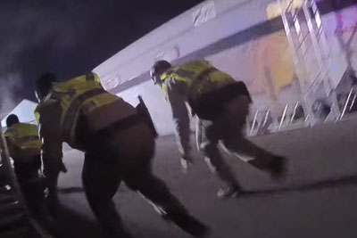 WATCH: Officer Body Worn Camera Footage Of Mass Shooting In Las Vegas