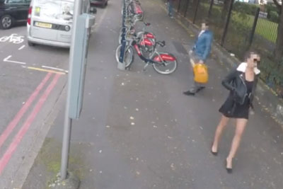 Man Ogles Woman On The Street, Gets Some Instant Karma