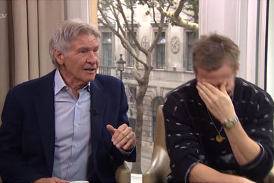 Ryan Gosling And Harrison Ford Lose It At Hilarious Interview