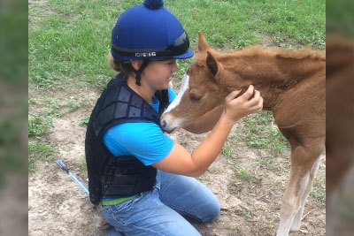 Young Girl Climbs Fence To Play With Foal, Then Blindsides Her With Move She Never Saw Coming