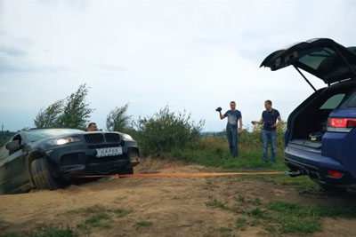 Russians Make Even More Mess After BMW Car Gets Stucked In A Mud