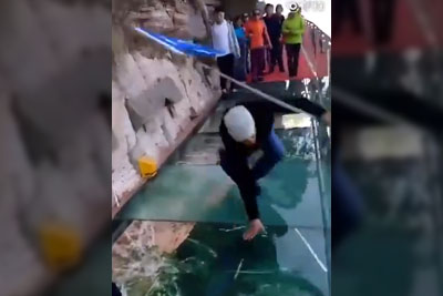 Everyone Loses It When Walking On This Glass Bridge. Would You Dare To Take A Walk?