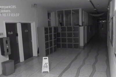 VIDEO: School Security Camera Captures Ghost In The Middle Of The Night